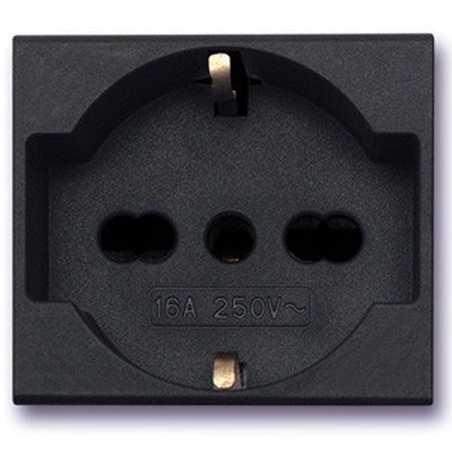Ave 45377 Noir Ax Sistema 45 portafusibile cartuccia con virola nero 16A 280V