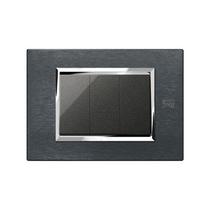 Placca Expì Alluminio Karbon 3 Moduli Simon Urmet 13903.AK