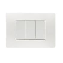 Placca Flexa Tecnopolimero Bianco Nea 3 Moduli Simon Urmet 11803.BN