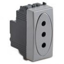 Presa 2P+T 10A Serie Civili Master Modo Steel 33162
