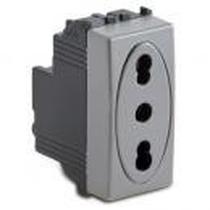 Presa Bipasso 2P+T 10-16A Serie Civili Master Modo Steel 33159