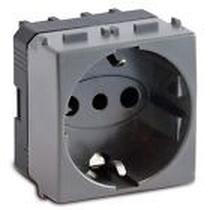 Presa UNEL Bipasso 2P+T 10-16A Serie Civili Master Modo Steel 33170