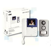 Kit monofamiliare 2VOICE! con pulsantiera MIKRA e monitor a colori Simply Urmet 956/81