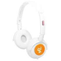 Cuffia Fluo DJ 674 Hi-Fi Digital Stereo Trevi Bianca e Arancione