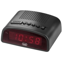 Orologio digitale LED Nero con sveglia Trevi EC 875