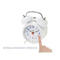 Orologio sveglia Classic LED Trevi SL 3043 al quarzo colore Bianco