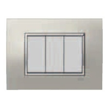 PLACCA SQUARE METAL ARGENTO...
