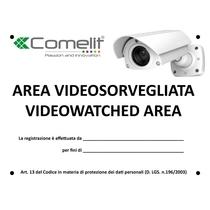 Cartello Area Videosorvegliata Comelit 43500