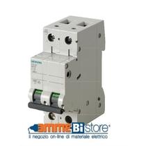 Interruttore Automatico Magnetotermico 2P 2 Moduli 6A 6kA Siemens 5SL62067BB