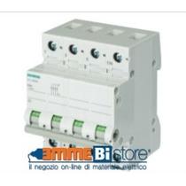 Interruttore Sezionatore 63A 4 Poli 4 Moduli Leva Grigia Siemens 5TL16630