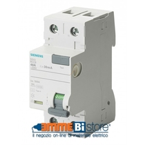 Interruttore Differenziale puro 40A 0,3 Tipo AC Siemens 5SV46140