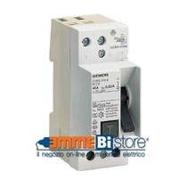 Blocco Differenziale 2poli 40A 30MA Siemens 5SM33146