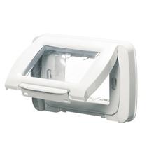 Placca Stagna Autoportante 4 posti - Bianco Nuvola Serie Civili Gewiss System GW22461