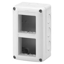 Contenitore Verticale Protetto 4 posti 2x2 IP40 per Serie Gewiss System Grigio Ral 7035 - GW27021