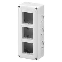 Contenitore Verticale Protetto 6 posti 2x3 IP40 per Serie Gewiss System Grigio Ral 7035 - GW27022