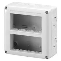 Contenitore Verticale Protetto 8 posti 4x2 IP40 per Serie Gewiss System Grigio Ral 7035 - GW27023