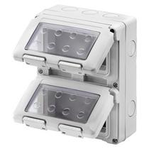 Contenitore Verticale Protetto 8 posti 4x2 IP55 per Serie Gewiss System Grigio Ral 7035 - GW27051