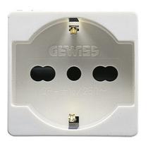 Presa 16A Bivalente Standard Italiano/Tedesco 2 posti Serie Civili Gewiss System White GW20246
