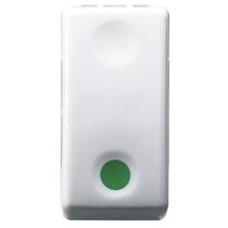Pulsante Unipolare 10A NA Contatto ausiliare NC Simbolo Verde - Gewiss System White