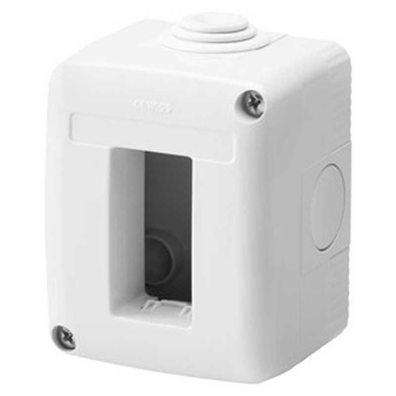 Contenitore orizzontale con passacavi 1 posto per serie Gewiss System White IP40 Grigio Ral7035 - GW27001