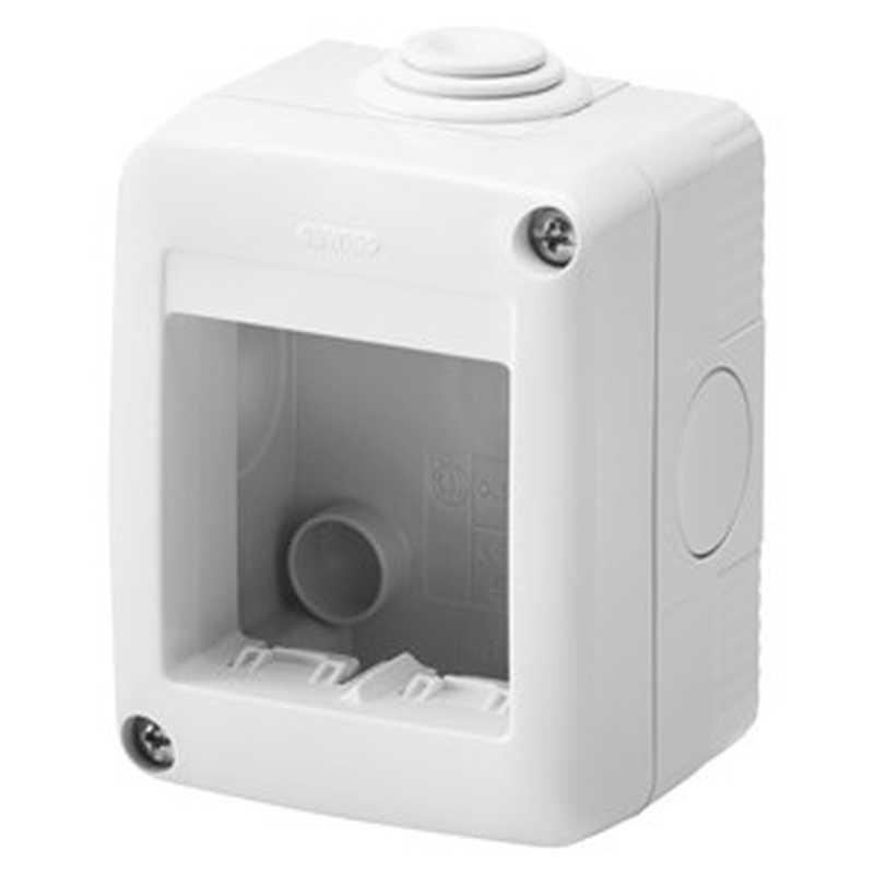 Contenitore orizzontale 2 posti per serie Gewiss System White IP40 Grigio Ral7035 - GW27002