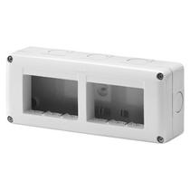 Contenitore orizzontale 6 posti -Modulo 3x2 per serie Gewiss System White IP40 Grigio Ral7035 - GW27005