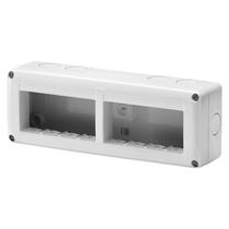 Contenitore orizzontale 8 posti -Modulo 4x2 per serie Gewiss System White IP40 Grigio Ral7035 - GW27006