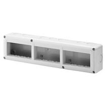 Contenitore orizzontale 12 posti -Modulo 4x3 per serie Gewiss System White IP40 Grigio Ral7035 - GW27007