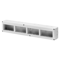 Contenitore orizzontale 16 posti -Modulo 4x4 per serie Gewiss System White IP40 Grigio Ral7035 - GW27008