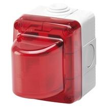 Spia di Segnalazione Stagna IP55 - Diffusore Rosso - Gewiss System - Grigio Ral 703 - GW27415