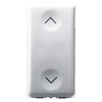 Pulsante Interbloccato NA+NA 10A Simbolo Su e Giù Serie Civli Gewiss System White GW20251