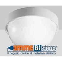 Plafoniera Bianca E27 IP43 a soffitto e parete Prisma Drop 25
