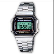 Orologio da polso digitale con cinturino in acciaio Casio A168WA-1YES