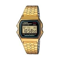 Orologio da polso digitale con cinturino in acciaio color oro Casio A159WGEA