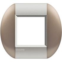 Placca Bticino LivingLight 2 POSTI  bronze
