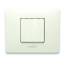 Placca Master Mix 21MX102 in tecnopolimero Bianco aspen 2 posti