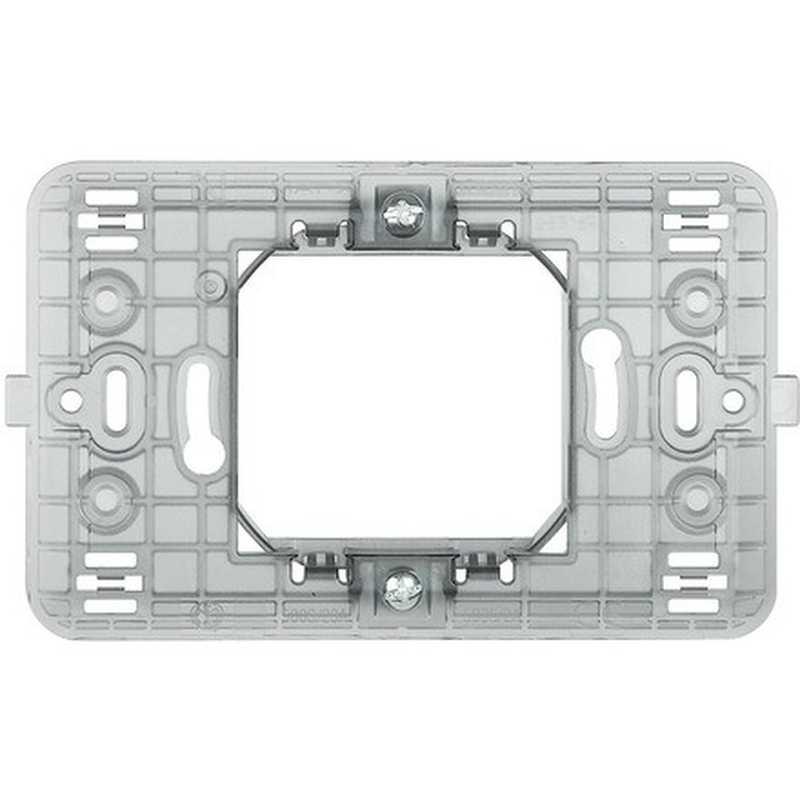 Supporto a 2 moduli centrali dotato di graffette Bticino Matix 500s/23A