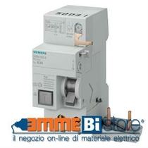Blocco differenziale puro Bipolare classe AS per serie 5SL 40A 300mA Siemens 5SM26238