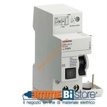 Blocco differenziale puro Classe A 40A 30mA per serie 5SY Siemens 5SM23226