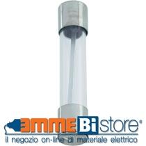 Fusibile in vetro cilindrico  misura 6,3x32 mm 1 A