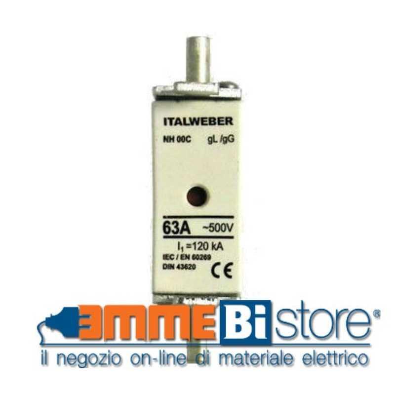Fusibile NH Italweber a coltello NH0 125A 500V AC