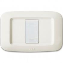 Placca in tecnopolimero Yes 45 per scatola rettangolare colore Bianco Banquise (RAL 9016) - 1 modulo