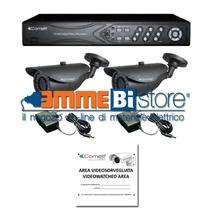 Kit Videosorveglianza AHD - Comelit -DVR 8 Ingressi 2 telecamere AHKIT080B
