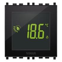 Termostato Elettronico Universale Nero Touch Screen 2 moduli Vimar 02950