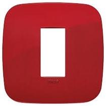 Placca Vimar Arkè Round 1 modulo tecnopolimero rosso 19671.85