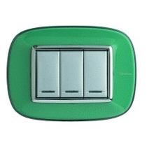 Placca Bticino Axolute HB4803DV 3 moduli Verde Liquid