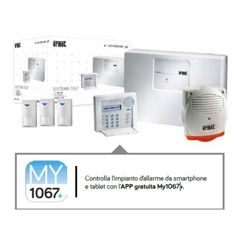 Kit antintrusione filare casa basic urmet 1067 912 for Kit allarme filare urmet