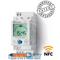 Interruttore astronomico  digitale 1 scambio NFC Finder 128182300000