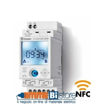 Interruttore astronomico  digitale 2 scambi NFC Finder 12A282300000