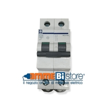 Interruttore Automatico 1 polo + N-  6A 4,5kA curva C 2 moduli Siei MC4- 6/1N